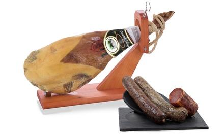 Serrano Dinastia Jabugoschouderham met gastronomische Iberische worsten