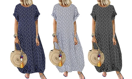 One or Two Short-Sleeved Polka Dot Dresses
