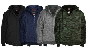 Men's Full-Zip Sherpa-Lined Hoodie Jacket (S-4X) at Men's Full-Zip Sherpa-Lined Hoodie Jacket (S-4X), plus 6.0% Cash Back from Ebates.