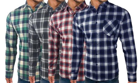 1 o 2 camisas a cuadros de hombre