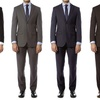 Men's Tailored-Fit 2-Piece Suit with Free Tie