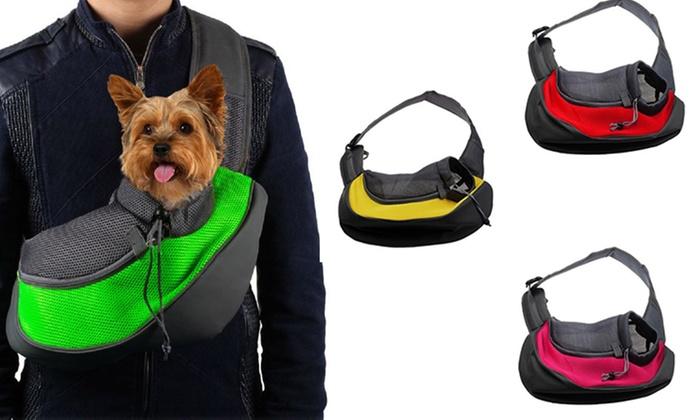sac de transport bandouli re pour chien groupon. Black Bedroom Furniture Sets. Home Design Ideas