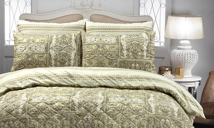 Park Avenue Pinsonic Quilted Quilt Cover Set: Queen ($45), King ($49) or Super King ($59) (Dont Pay up to $179.95)