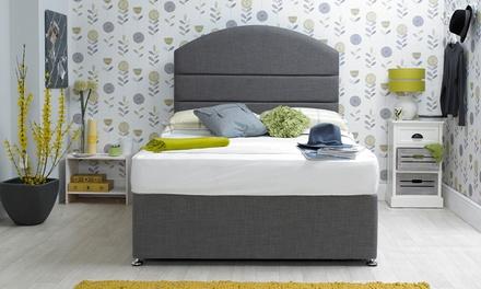 Slate Grey Fabric Storage Bed
