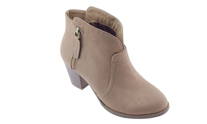 Mata Shoes Women's Chunky-Heeled Ankle Booties (Sizes 6.5 & 7.5)