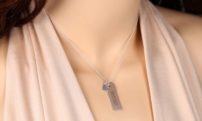 gold necklace in plated bar plating goods groupon gg sterling deals silver