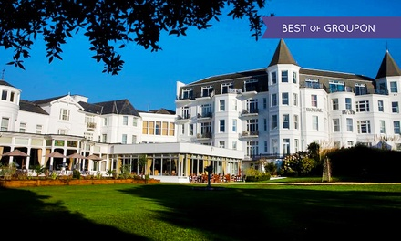 Bournemouth: 1 or 2 Nights for Two with Breakfast and Option for Dinner and Wine at Royal Bath Hotel