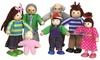 Lelin Seven-Piece Wooden Big Family Doll Set