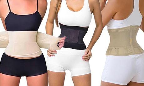 Faja de doble compresión para cintura disponible en 2 colores