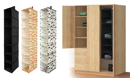 One, Two or Three Seven-Box Wardrobe Storage Hangers