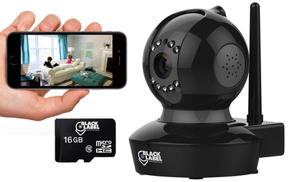 Black Label Cam Pro 1080p WiFi Surveillance Camera with optional SD Card (1- or 2-Pack)