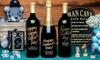 Up to 66% Off Custom-Engraved Bottles of Wine