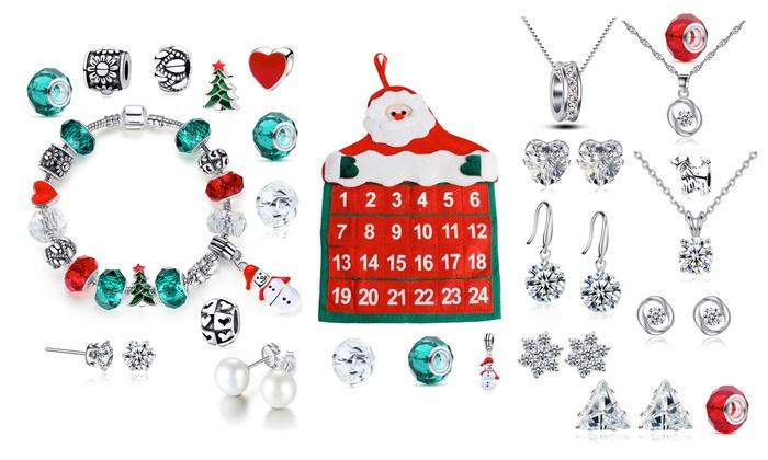 Calendrier De Lavant Femme.Calendrier De L Avent De La Marque Taylors Jewellery Proposant 24 Bijoux Avant Noel