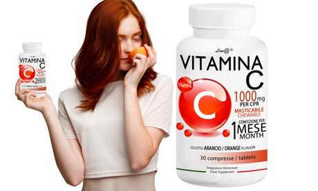 30, 60, 120, 180 o 360 tabletas masticables de 1000 mg de vitamina C de Line@diet