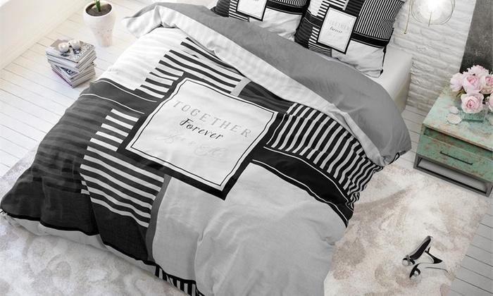 bettw sche set together groupon goods. Black Bedroom Furniture Sets. Home Design Ideas