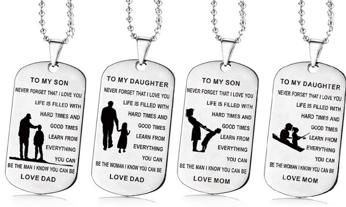 One, Two or Four Love Message Necklaces from £3.98