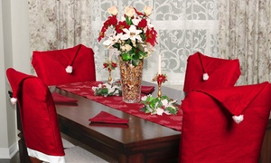 Santa Hat Christmas Chair Covers (4-Pack or 8-Pack)