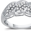 1/4 CTTW Diamond Cluster Braided Band in Sterling Silver by DeCarat