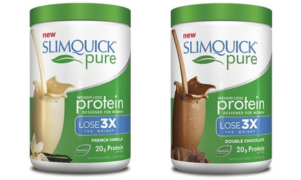 Slimquick Pure Weight-Loss Protein Powder in Double Chocolate or French Vanilla (300g)
