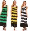 Women's Chevron Print Maxi Dress