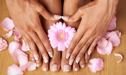 Gel Manicure, Spa Pedicure and Manicure at Riva Salon + Fitness (Up to 63% Off). 3 Options Available.