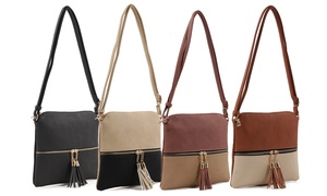 MKII Collection Sadie Color-Block Crossbody Purse