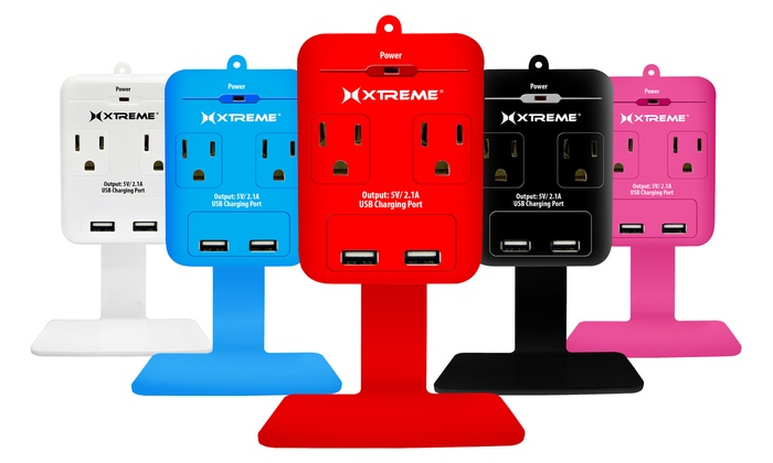 Xtreme AC and USB Wall Outlet with Shelf: Xtreme AC and USB Wall Outlet with Shelf