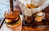 Smokin' Barrel Burger with Drink