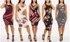 Women's Sleeveless Slip-On Bodycon Midi Dresses
