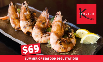 Summer of Seafood Degustation for One ($69), Two ($136) or Four People ($272) at Kobe Jones Sydney (Up to $636 Value)