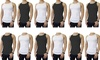 Men's Cotton Black and White A-Shirts (12-Pack)