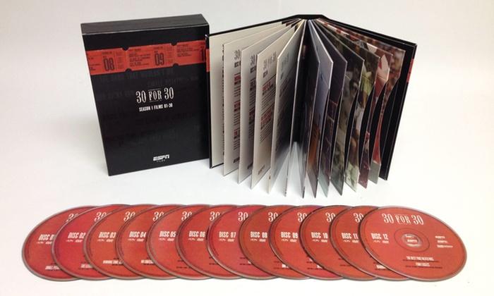 ESPN 30 for 30 Season 1: Films 1–30 on DVD: ESPN 30 for 30 Volumes 1 and 2: Films 1–30 on DVD