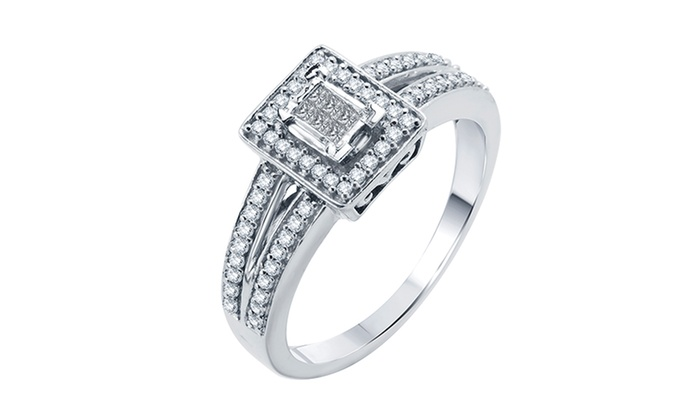 1/4 CTTW Diamond Ring in 10-Karat White Gold: 1/4 CTTW Diamond Ring in 10-Karat White Gold