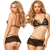 Yandy Lace Strappy Cup Bra and Skirtini Set