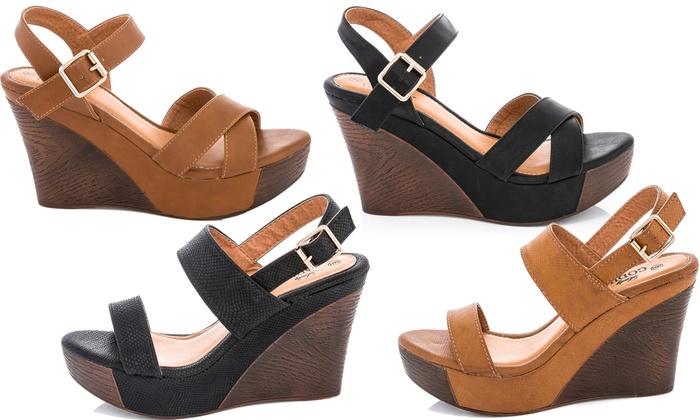 5688920e69ca Lady Godiva Laura Women s Platform Wedge Sandals