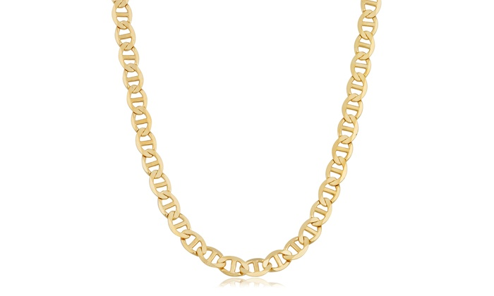 mariner groupon deals latest gold yellow solid chain necklace gg filled
