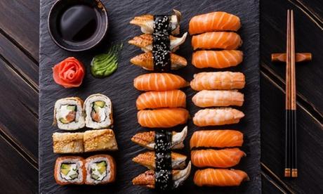 Menú para 2 o 4 con entrante, 24 o 48 piezas de sushi y bebida desde 22,99 € en He Wei