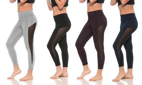 S2 Sportswear High-Waist Women's Mesh Workout Capris (4-Pack) b09293c4-4b1d-4c1f-a2e3-ba482f9fb3a3