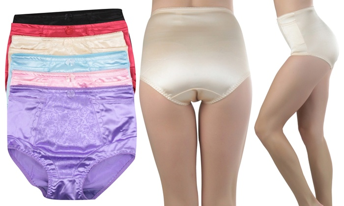 Women's Regular and Plus-Size High-Waisted Control Panties (6-Pack)