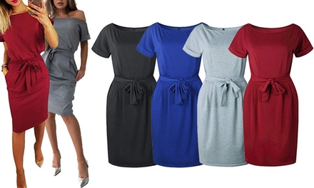ShortSleeve WaistTie Dress: One $19 or Two $29