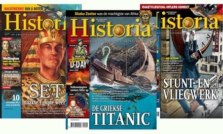 5 of 9 nummers Historia, het abonnement stopt automatisch