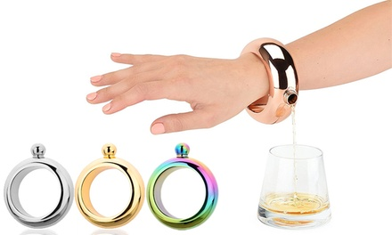 Rose gold bracelet flask groupon