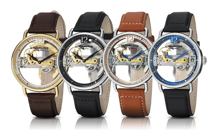 Stuhrling Original Men's Skeleton Bridge Automatic Watch: Stuhrling Original Men's Skeleton Bridge Automatic Watch. Multiple Styles Available.