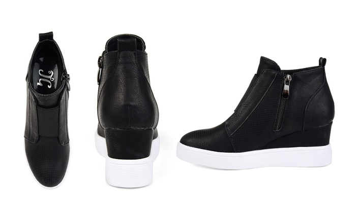 5936c034537 Journee Collection Women s Clara Wedge Sneaker Shoes