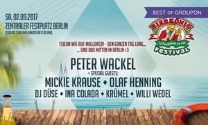 Bierkönig Festival: Feiern wie auf Mallorca: Bierkönig Festival am 2.9.2017 auf dem Zentralen Festplatz, u. a. mit Peter Wackel (50% sparen)