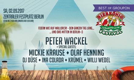 Feiern wie auf Mallorca: Bierkönig Festival am 2.9. auf dem Zentralen Festplatz, u.a. mit Peter Wackel (50% sparen)