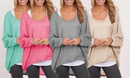 1 o 2 maglie da donna oversize, disponibili in vari colori e taglie