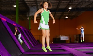 Jumping World : One-Hour Indoor Trampoline Session for Two at Jumping World (Up to 50% Off). Two Options Available.