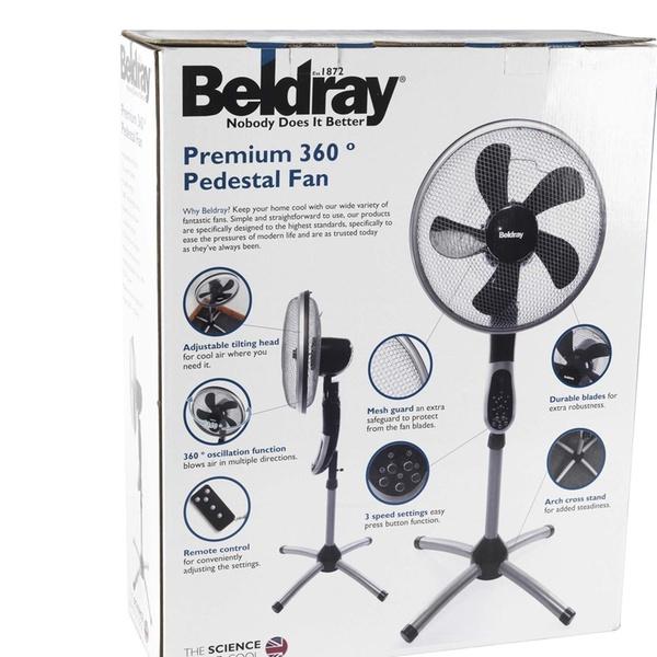 Beldray EH1331 Premium 360° Pedestal Fan
