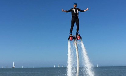 1 session de flyboard de 30 min, option vidéo ou 1 session d'hoverboard de 30 min dès 69,90 € chez A.M.R Location